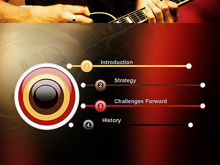 Rock Guitar PowerPoint Template Slide 3
