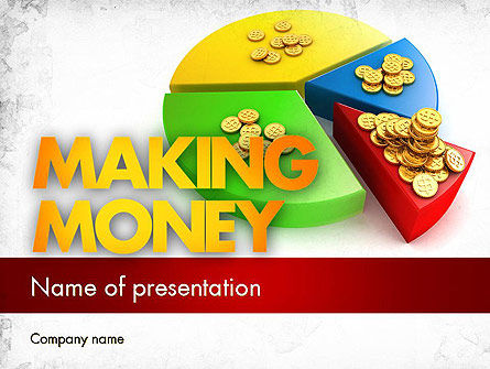 Money Pie PowerPoint Template, 11482, Financial/Accounting — PoweredTemplate.com