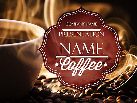 Steaming Hot Coffee Cup PowerPoint Template