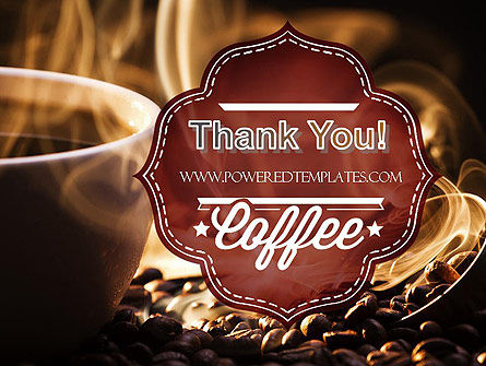 Steaming Hot Coffee Cup PowerPoint Template Slide 20