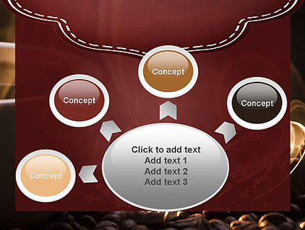 Steaming Hot Coffee Cup PowerPoint Template Slide 7
