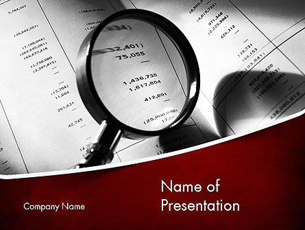 Financial Fraud Research PowerPoint Template