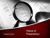Legal: Financial Fraud Research PowerPoint Template #11485
