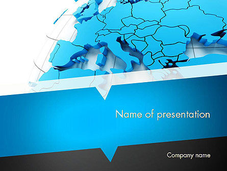 Global: De Kaart Van Europa PowerPoint Template #11488