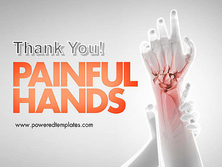Painful Hands PowerPoint Template Slide 20