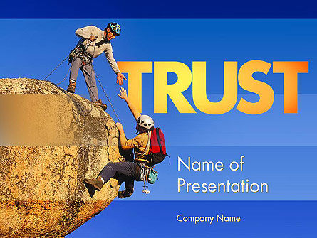 Sports: Climbing Team PowerPoint Template #11492