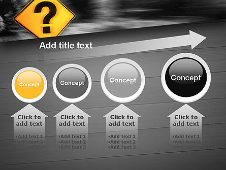 Question Mark Road Sign PowerPoint Template Slide 13