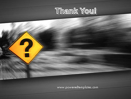 Question Mark Road Sign PowerPoint Template Slide 20