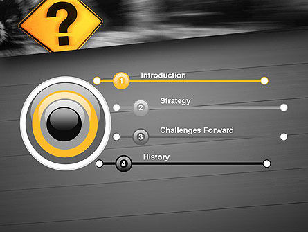 Question Mark Road Sign PowerPoint Template Slide 3
