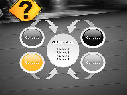 Question Mark Road Sign PowerPoint Template Slide 6