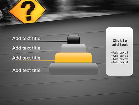 Question Mark Road Sign PowerPoint Template Slide 8