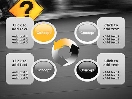 Question Mark Road Sign PowerPoint Template Slide 9