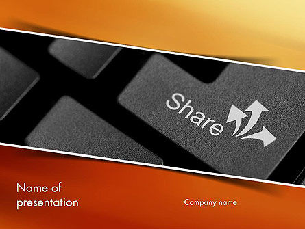 Keyboard Button Share PowerPoint Template
