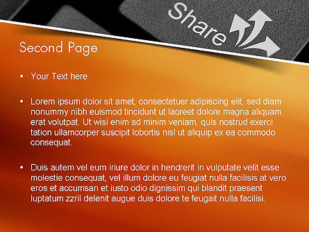 Keyboard Button Share PowerPoint Template Slide 2