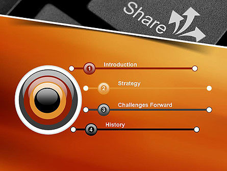 Keyboard Button Share PowerPoint Template Slide 3