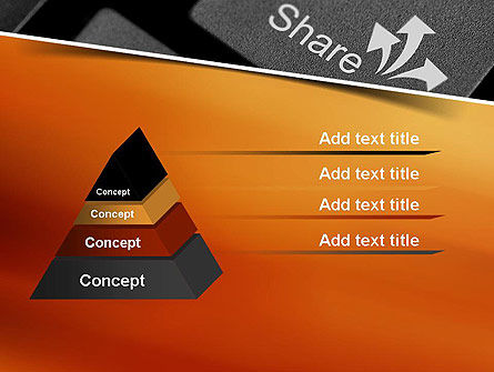 Keyboard Button Share PowerPoint Template Slide 4