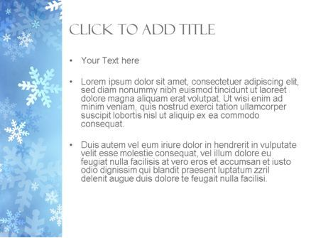 Snowflakes Theme PowerPoint Template, Slide 3, 11495, Holiday/Special Occasion — PoweredTemplate.com