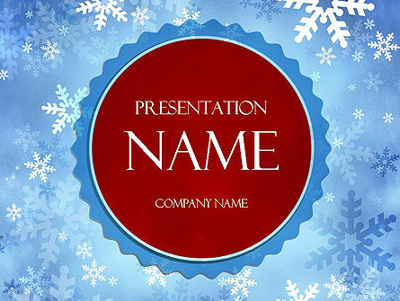 Holiday/Special Occasion: Snowflakes Theme PowerPoint Template #11495