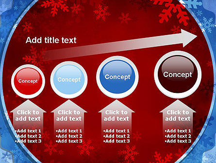 Snowflakes Theme PowerPoint Template Slide 13