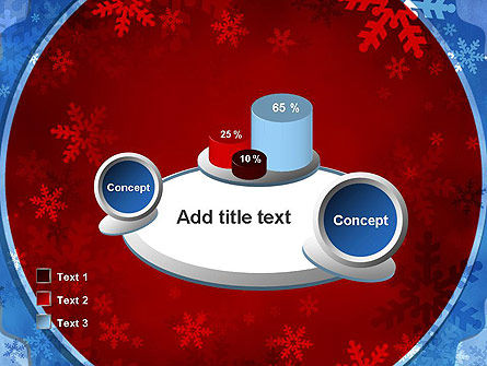 Snowflakes Theme PowerPoint Template Slide 16