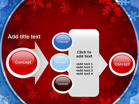 Snowflakes Theme PowerPoint Template Slide 17