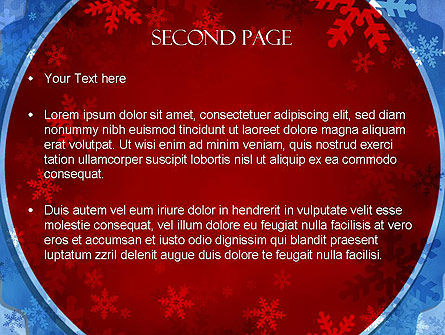 Snowflakes Theme PowerPoint Template, Slide 2, 11495, Holiday/Special Occasion — PoweredTemplate.com