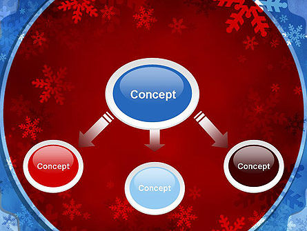 Snowflakes Theme PowerPoint Template, Slide 4, 11495, Holiday/Special Occasion — PoweredTemplate.com