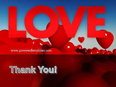 Heart Balloons PowerPoint Template Slide 20