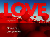 Heart Balloons PowerPoint Template#1