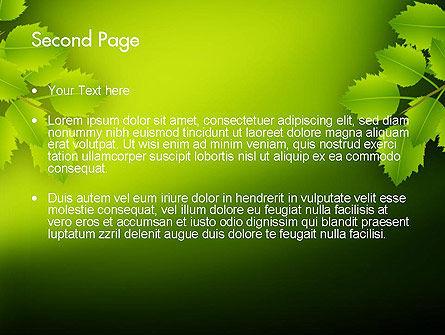 Green Branch PowerPoint Template, Slide 2, 11498, Nature & Environment — PoweredTemplate.com