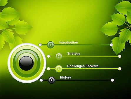 Green Branch PowerPoint Template, Slide 3, 11498, Nature & Environment — PoweredTemplate.com