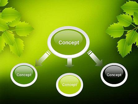 Green Branch PowerPoint Template, Slide 4, 11498, Nature & Environment — PoweredTemplate.com