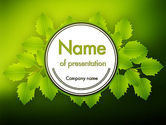 Nature & Environment: Green Branch PowerPoint Template #11498