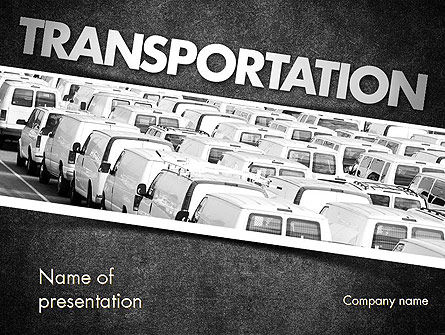 Transportation Services PowerPoint Template, 11501, Cars and Transportation — PoweredTemplate.com