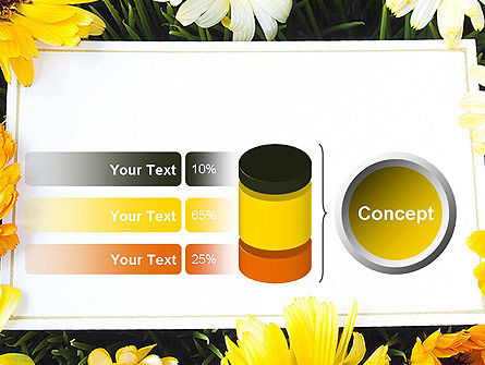 Greeting Card with Flowers PowerPoint Template Slide 11