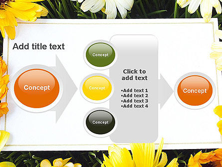Greeting Card with Flowers PowerPoint Template Slide 17