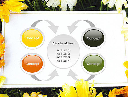 Greeting Card with Flowers PowerPoint Template Slide 6