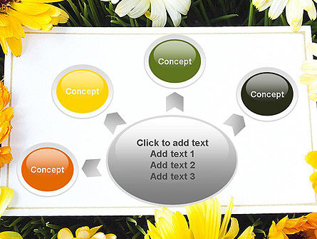 Greeting Card with Flowers PowerPoint Template Slide 7