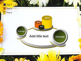 Greeting Card with Flowers PowerPoint Template#16