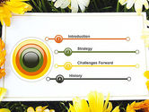 Greeting Card with Flowers PowerPoint Template#3