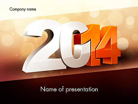 Holiday/Special Occasion: 2014 PowerPoint Template #11503