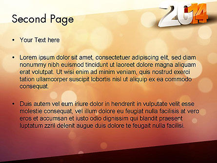 2014 PowerPoint Template, Slide 2, 11503, Holiday/Special Occasion — PoweredTemplate.com