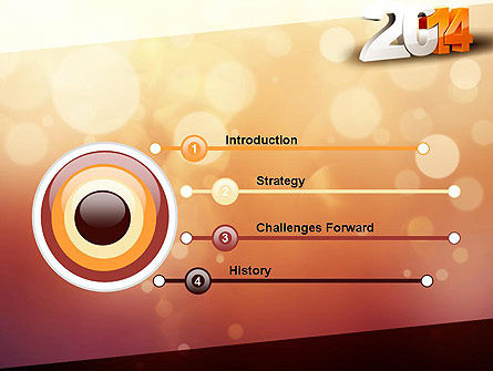 2014 PowerPoint Template, Slide 3, 11503, Holiday/Special Occasion — PoweredTemplate.com