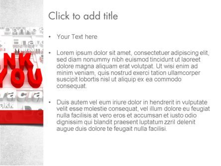 Thank You in Different Languages PowerPoint Template, Slide 3, 11504, Education & Training — PoweredTemplate.com
