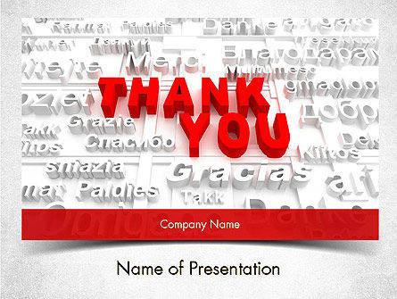 Thank You in Different Languages PowerPoint Template