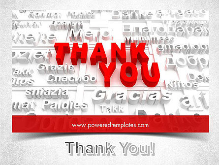 Thank You in Different Languages PowerPoint Template Slide 20