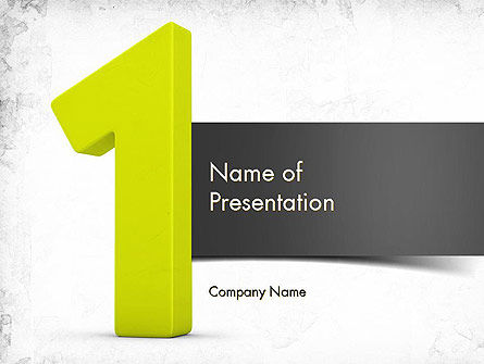 Number One Green PowerPoint Template