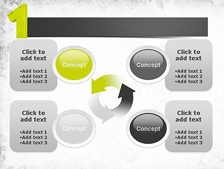 Number One Green PowerPoint Template Slide 9