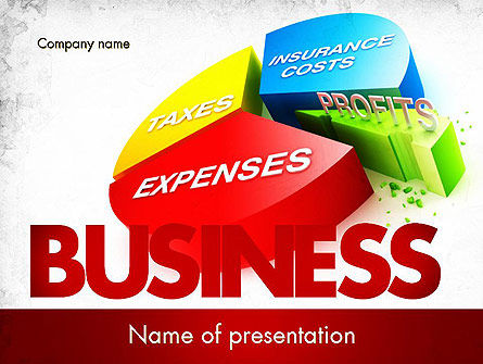 Price Composition Pie Chart PowerPoint Template