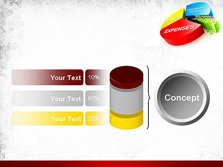 Price Composition Pie Chart PowerPoint Template Slide 11